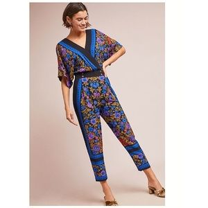 NWT Anthropologie Scarf-Printed Jumpsuit